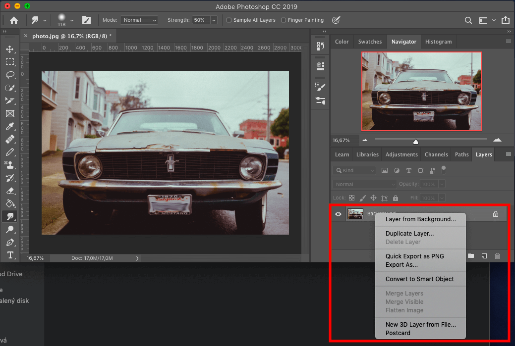Blur photoshop export