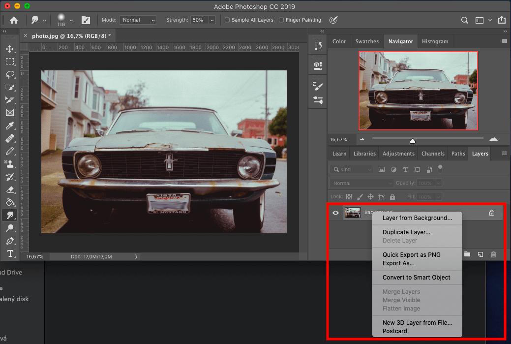 Blur photoshop export