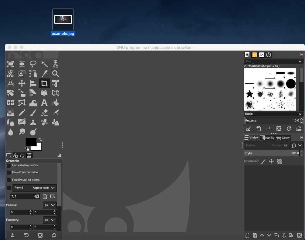 Gimp load image to blur
