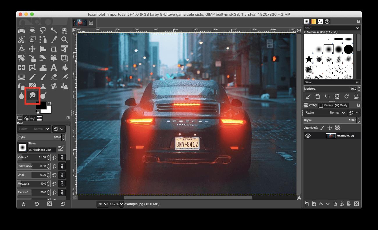 Gimp blur tool
